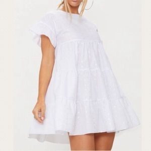NWT PrettyLittleThing Broderie Anglaise Dress
